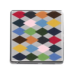 Leather Colorful Diamond Design Memory Card Reader (square)
