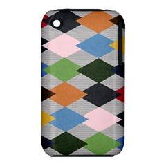 Leather Colorful Diamond Design Iphone 3s/3gs