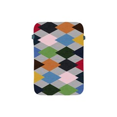 Leather Colorful Diamond Design Apple Ipad Mini Protective Soft Cases by Nexatart