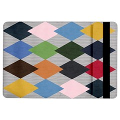 Leather Colorful Diamond Design Ipad Air 2 Flip