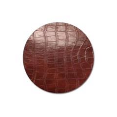 Leather Snake Skin Texture Magnet 3  (round) by Nexatart