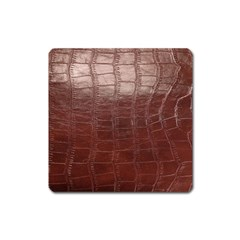 Leather Snake Skin Texture Square Magnet