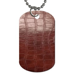 Leather Snake Skin Texture Dog Tag (two Sides)
