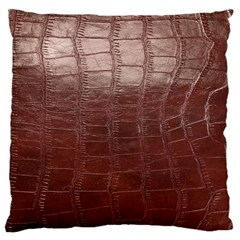 Leather Snake Skin Texture Large Flano Cushion Case (one Side)