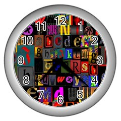 Letters A Abc Alphabet Literacy Wall Clocks (silver)