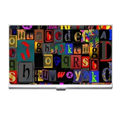 Letters A Abc Alphabet Literacy Business Card Holders