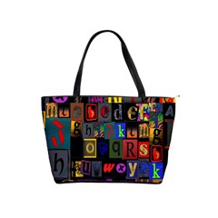 Letters A Abc Alphabet Literacy Shoulder Handbags by Nexatart