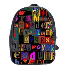 Letters A Abc Alphabet Literacy School Bags(large)  by Nexatart
