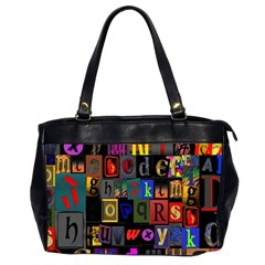 Letters A Abc Alphabet Literacy Office Handbags (2 Sides)  by Nexatart