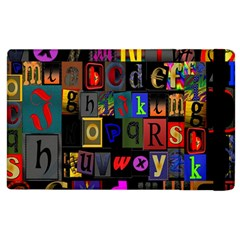 Letters A Abc Alphabet Literacy Apple Ipad 2 Flip Case by Nexatart