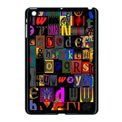 Letters A Abc Alphabet Literacy Apple Ipad Mini Case (black) by Nexatart