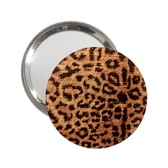 Leopard Print Animal Print Backdrop 2 25  Handbag Mirrors