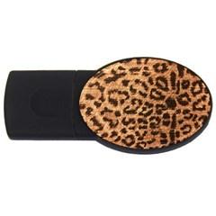 Leopard Print Animal Print Backdrop Usb Flash Drive Oval (4 Gb)
