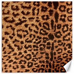 Leopard Print Animal Print Backdrop Canvas 12  X 12   by Nexatart