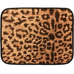 Leopard Print Animal Print Backdrop Fleece Blanket (mini)