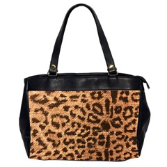 Leopard Print Animal Print Backdrop Office Handbags (2 Sides)