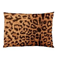 Leopard Print Animal Print Backdrop Pillow Case (two Sides) by Nexatart