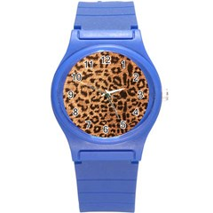 Leopard Print Animal Print Backdrop Round Plastic Sport Watch (s)
