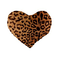 Leopard Print Animal Print Backdrop Standard 16  Premium Flano Heart Shape Cushions by Nexatart