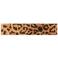 Leopard Print Animal Print Backdrop Flano Scarf (Small) by Nexatart