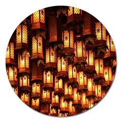 Light Art Pattern Lamp Magnet 5  (round)