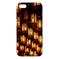Light Art Pattern Lamp Apple Iphone 5 Premium Hardshell Case by Nexatart