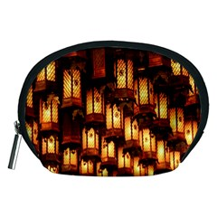 Light Art Pattern Lamp Accessory Pouches (medium)  by Nexatart