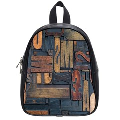Letters Wooden Old Artwork Vintage School Bags (small)  by Nexatart