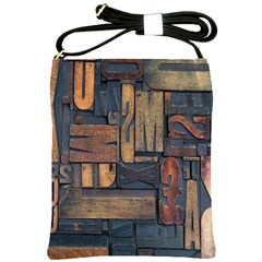 Letters Wooden Old Artwork Vintage Shoulder Sling Bags