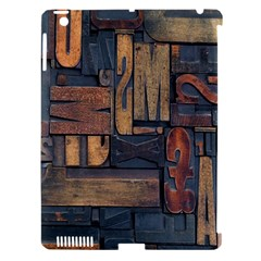 Letters Wooden Old Artwork Vintage Apple Ipad 3/4 Hardshell Case (compatible With Smart Cover)