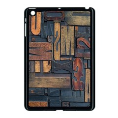 Letters Wooden Old Artwork Vintage Apple Ipad Mini Case (black) by Nexatart