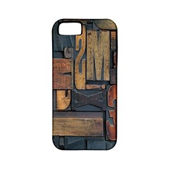Letters Wooden Old Artwork Vintage Apple Iphone 5 Classic Hardshell Case (pc+silicone) by Nexatart