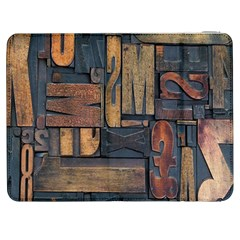 Letters Wooden Old Artwork Vintage Samsung Galaxy Tab 7  P1000 Flip Case by Nexatart