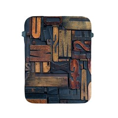 Letters Wooden Old Artwork Vintage Apple Ipad 2/3/4 Protective Soft Cases by Nexatart