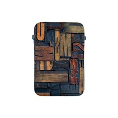 Letters Wooden Old Artwork Vintage Apple Ipad Mini Protective Soft Cases by Nexatart