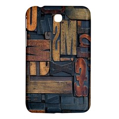 Letters Wooden Old Artwork Vintage Samsung Galaxy Tab 3 (7 ) P3200 Hardshell Case  by Nexatart