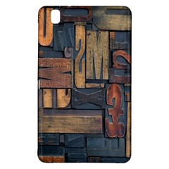 Letters Wooden Old Artwork Vintage Samsung Galaxy Tab Pro 8 4 Hardshell Case by Nexatart