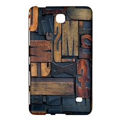 Letters Wooden Old Artwork Vintage Samsung Galaxy Tab 4 (7 ) Hardshell Case  by Nexatart