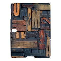 Letters Wooden Old Artwork Vintage Samsung Galaxy Tab S (10 5 ) Hardshell Case  by Nexatart