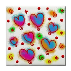 Love Hearts Shapes Doodle Art Face Towel