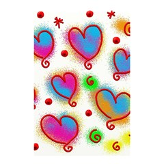 Love Hearts Shapes Doodle Art Shower Curtain 48  X 72  (small)