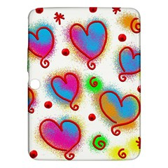 Love Hearts Shapes Doodle Art Samsung Galaxy Tab 3 (10 1 ) P5200 Hardshell Case  by Nexatart