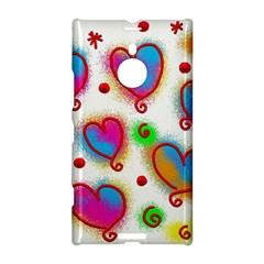 Love Hearts Shapes Doodle Art Nokia Lumia 1520