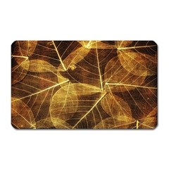 Leaves Autumn Texture Brown Magnet (rectangular) by Nexatart