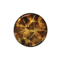 Leaves Autumn Texture Brown Hat Clip Ball Marker (10 Pack) by Nexatart
