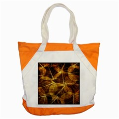 Leaves Autumn Texture Brown Accent Tote Bag by Nexatart