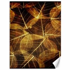 Leaves Autumn Texture Brown Canvas 36  X 48   by Nexatart