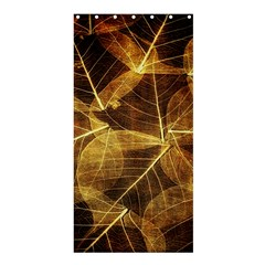 Leaves Autumn Texture Brown Shower Curtain 36  X 72  (stall)  by Nexatart