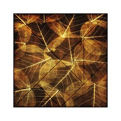Leaves Autumn Texture Brown Acrylic Tangram Puzzle (6  x 6 ) by Nexatart