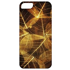 Leaves Autumn Texture Brown Apple Iphone 5 Classic Hardshell Case by Nexatart